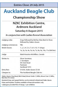 ABC 2015 CH Show - Dog World Schedule